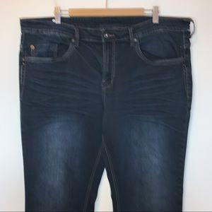 Buffalo David Bitton Men Size 42x34 Jeans Six-X Straight Stretch Indigo Blue